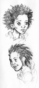 Younger face sketches